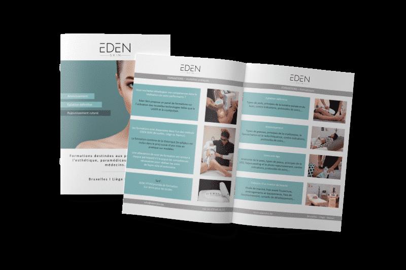 Folder de présentation des formations Eden Skin